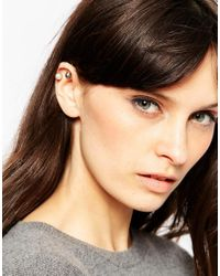 ASOS - Multicolor Pack Of 3 Fine Pearl Ear Cuff - Lyst