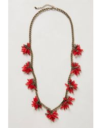 BaubleBar | Red Ixora Blossoms Necklace | Lyst
