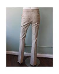 Tibi | Natural Anson Stretch Boot Cut Pant | Lyst