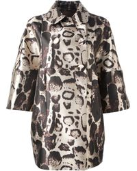 Blumarine | Multicolor Printed Coat | Lyst