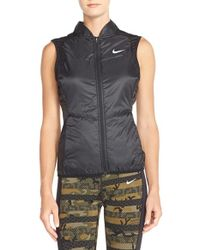 Nike Black Insulated Water-Resistant Vest