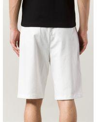 Raf Simons White Wide Leg Shorts for men