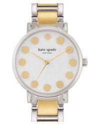 kate spade new york - Metallic 'gramercy' Dot Dial Bracelet Watch - Lyst