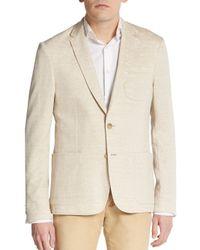 Michael Kors - Natural Cotton/linen Knit Blazer for Men - Lyst