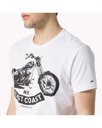 Tommy Hilfiger | White Cotton Printed T-shirt for Men | Lyst