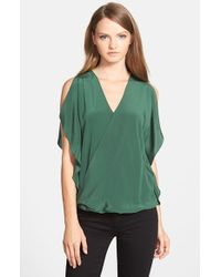 Bailey 44 | Green 'thompson' Silk Top | Lyst