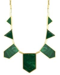 House of Harlow 1960 | Green Classic Station Necklace In Resin | Lyst