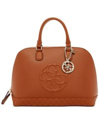 Guess | Brown Korry Dome Satchel | Lyst