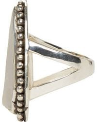 Pamela Love | Metallic Silver And Taupe Jasper Ring | Lyst