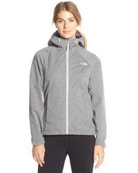 The North Face Gray 'Magnolia' Waterproof Rain Jacket