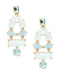 kate spade new york | Blue Beach Gem Statement Earrings | Lyst