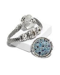 John Hardy   Blue Kali Sea Round Ring   Lyst