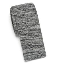 Saks Fifth Avenue - Gray Anonymous Ism Marled Knit Cotton Tie for Men - Lyst