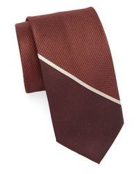 William Rast | Red Texture Silk Tie for Men | Lyst