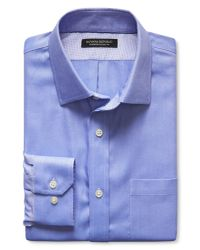 Banana Republic | Blue Classic-fit Non-iron Solid Shirt for Men | Lyst