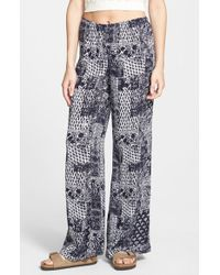 Billabong | Blue 'keepsake' Print Beach Pants | Lyst