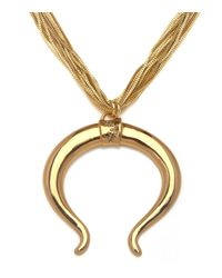 Sequin | Metallic Horseshoe Necklace | Lyst