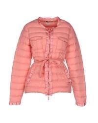 Twin Set - Pink Down Jacket - Lyst