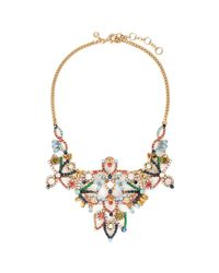 J.Crew | Multicolor Crystal Lace Necklace | Lyst