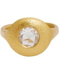 Linda Lee Johnson - Metallic Women's Diamond & Gold jubilee Rose Ring - Lyst