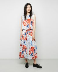Zucca - Multicolor Printed Cotton Dress - Lyst
