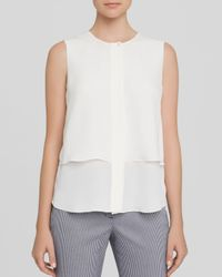 Theory White Top - Gentaire Modern Sleeveless