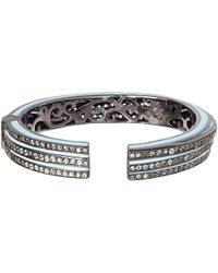 M.c.l - Light Blue Sapphire Stacked Bangle - Lyst