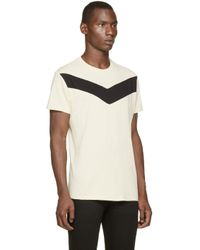 DIESEL | Natural Cream And Black T_mayurino T_shirt for Men | Lyst