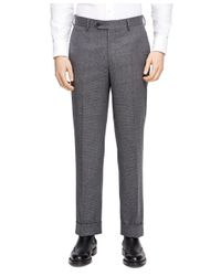 Brooks Brothers Gray Check Greenwich Suit for men
