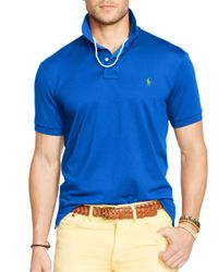 Ralph Lauren - Blue Polo Performance Mesh Polo Shirt - Slim Fit for Men - Lyst