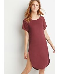 Forever 21 | Purple Contemporary Chiffon-sleeve Tunic | Lyst
