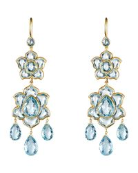Munnu | Blue Lotus Drop Earrings | Lyst