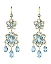 Munnu - Blue Lotus Drop Earrings - Lyst