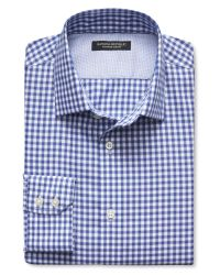 Banana Republic | Blue Slim-fit Non-iron Twill Gingham Shirt for Men | Lyst