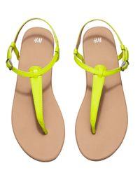H&M Yellow Sandals