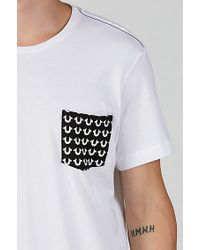 True Religion | White Horseshoe Monogram Mens T-shirt for Men | Lyst