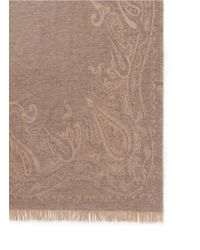 Etro Natural Leicester Tilton Wool-cashmere Paisley Jacquard Travel Throw