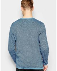 Jack & Jones | Gray Knitted Sweater In Mixed Yarns for Men | Lyst