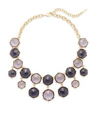 Saks Fifth Avenue | Purple Faceted Seven-drop Bib Necklace | Lyst