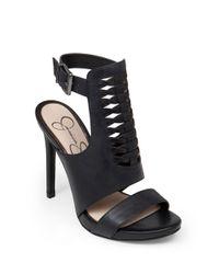 Jessica Simpson Black Rendell Leather Sandals
