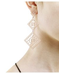 Arme De L'Amour | Pink Square Long Pattern Earring | Lyst