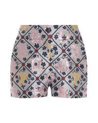 Mary Katrantzou   Multicolor Jacquard Sarafi Shorts   Lyst