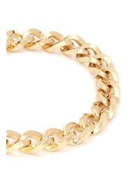 Kenneth Jay Lane Metallic Thick Twist Chain Necklace