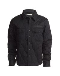 Dickies | Black Construct Quilted Canvas Overshirt for Men | Lyst