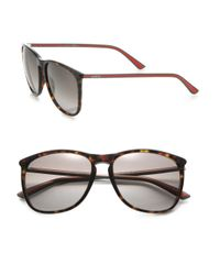 Gucci | Black 57mm Square Sunglasses | Lyst