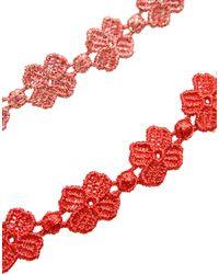 Cruciani   Red Bracelet   Lyst