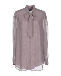 Liu Jo - Gray Shirt - Lyst