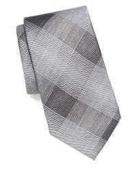 Vince Camuto | Black Plaid Tie for Men | Lyst