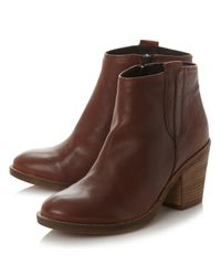Dune | Blue Todd Block Heeled Long Boots | Lyst