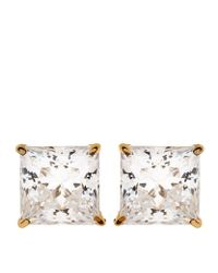 Carat* | Metallic Elegant Princess Stud Earrings | Lyst